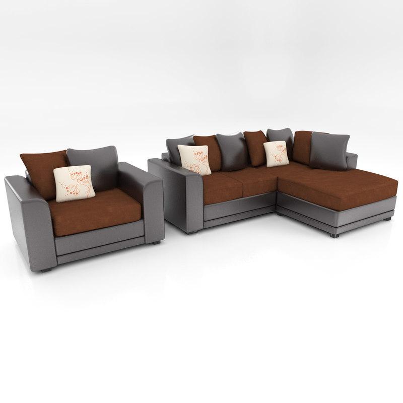 3d sofa arm chair