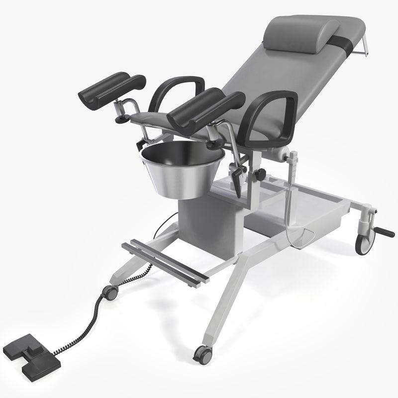 3d urological chair model
