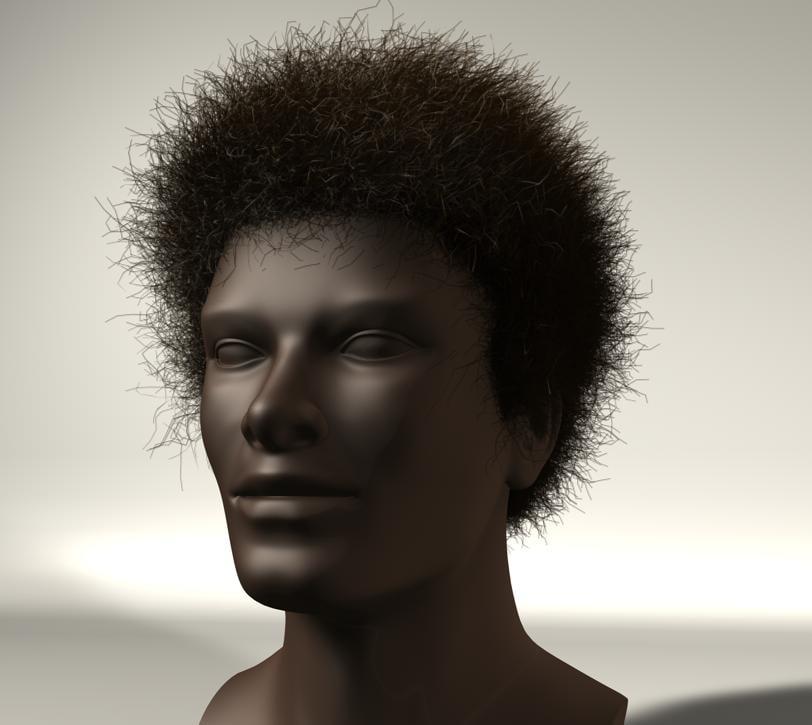 3d afro hair style 11 model