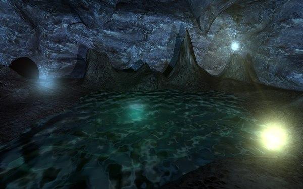 3d model cavern chamber