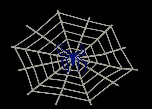 cobweb spider walldecoration 3d 3ds