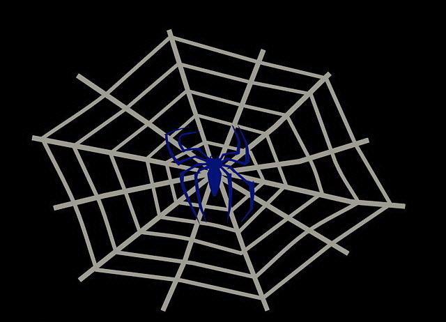 cobweb spider walldecoration 3d 3ds