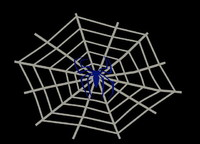 cobweb spider walldecoration