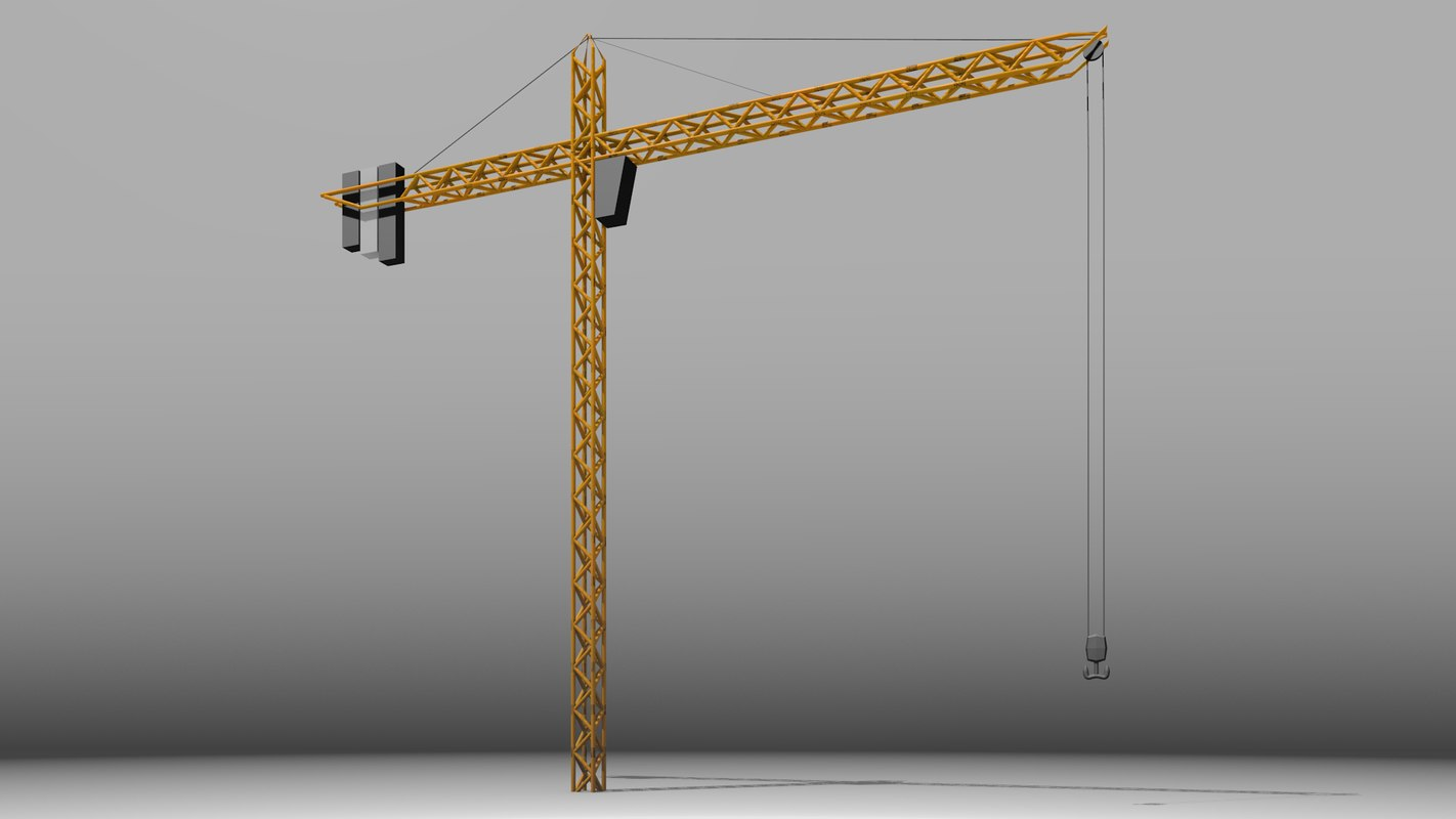 3d model simple crane