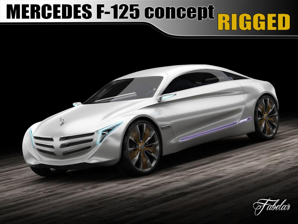 3d mercedes f125 concept car