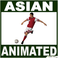 Asian Soccer Player CG