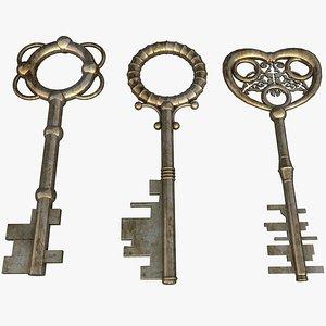 3d old keys