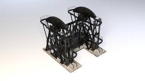 3d model industrial oil pump