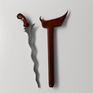 keris dagger 3ds