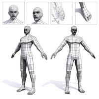 3ds max generic male base mesh
