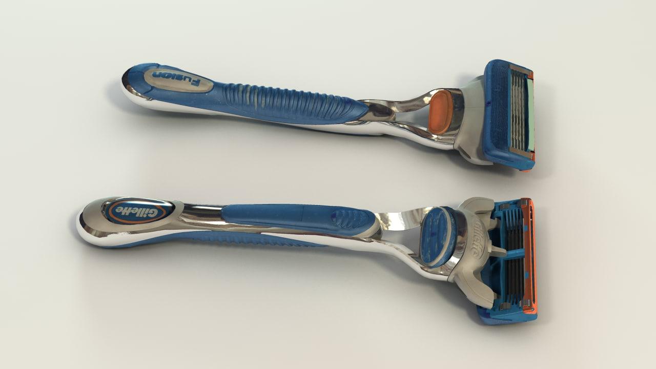 gillette fusion razor fbx