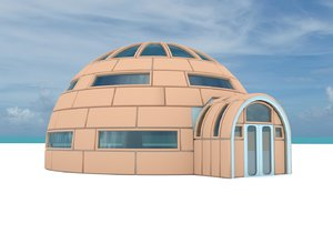 3d iglo house structures
