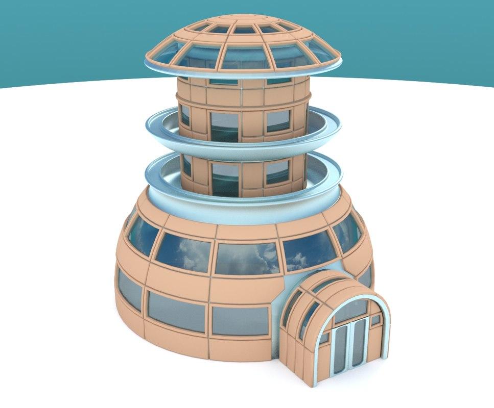 3dsmax iglo house