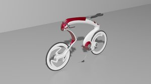 3d model of simple concept race bike