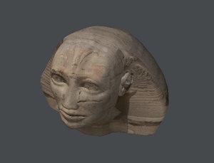 sphinx head 3d model