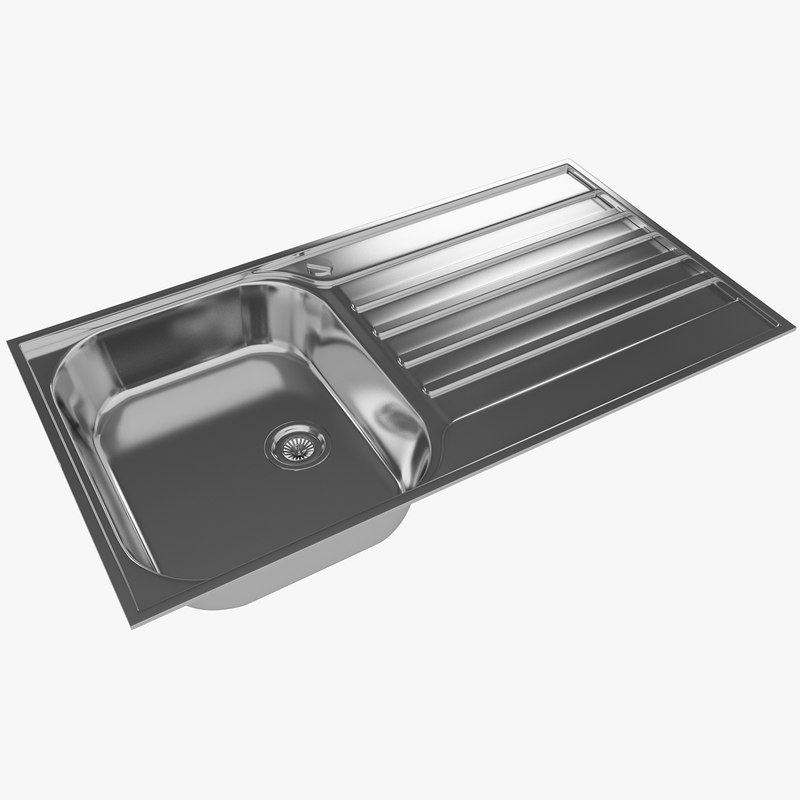 kitchen sink blancolivit 45s 3d model