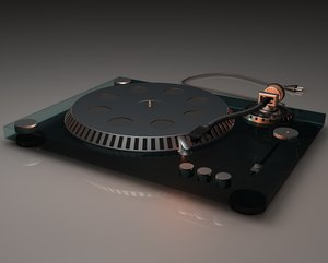 realistic turntable 3d 3ds