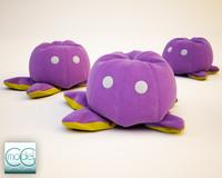 3d model peluche octopus