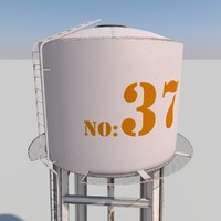 3dsmax metal water tower