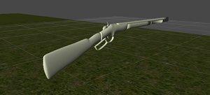gun winchester 3d model