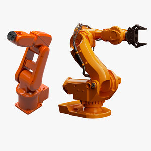 2 industrial robots set 3d 3ds