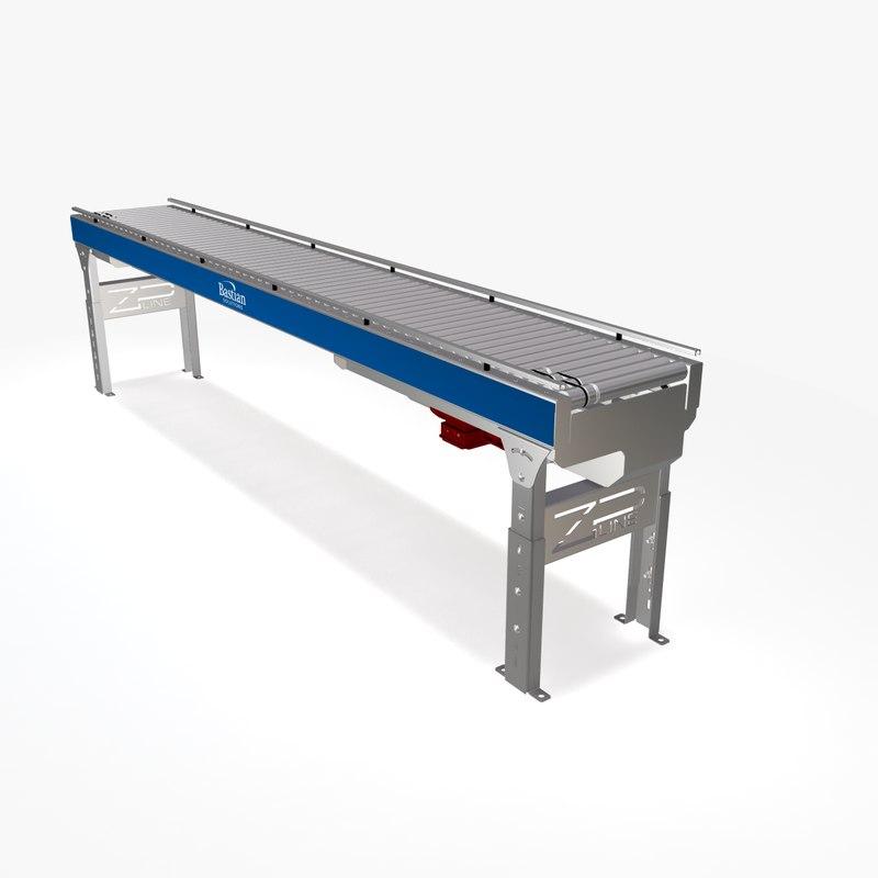 roller minimum ac conveyor 3d max