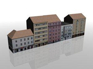 3d model 50 houses europe