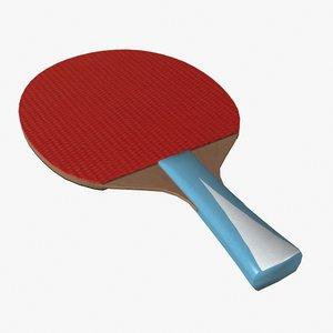 3d table tennis racket model