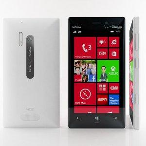 nokia lumia 928 white 3d model