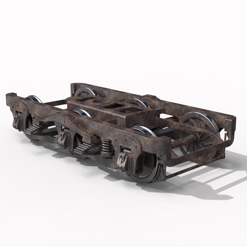 3d pullman passenger truck model