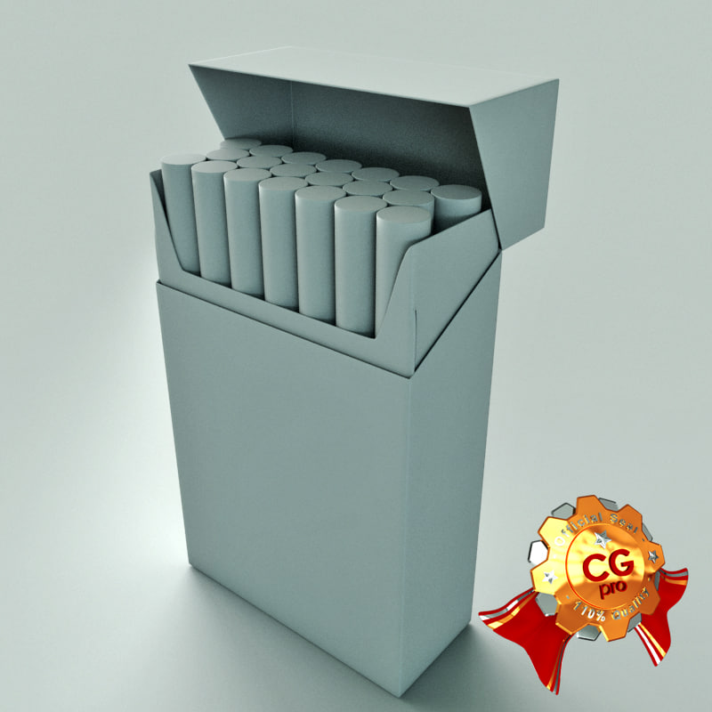 3d blank pack cigarettes