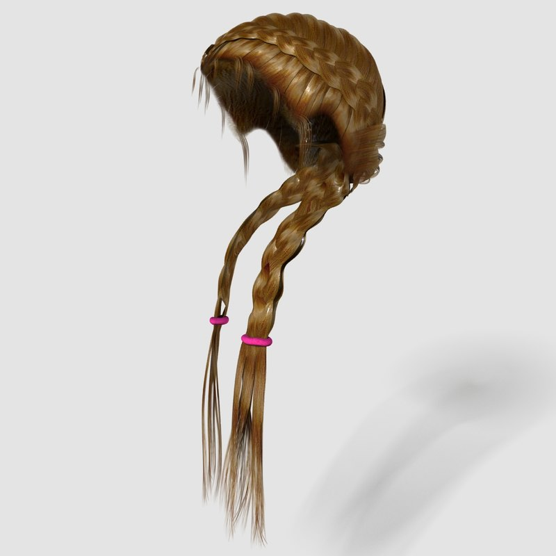 3dsmax hairstyle girl