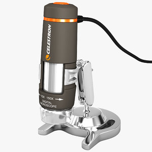 3d model digital microscope celestron 44302