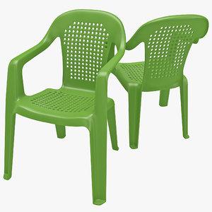 3d monobloc chair 3 model