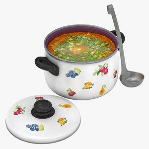 3ds max pot soup