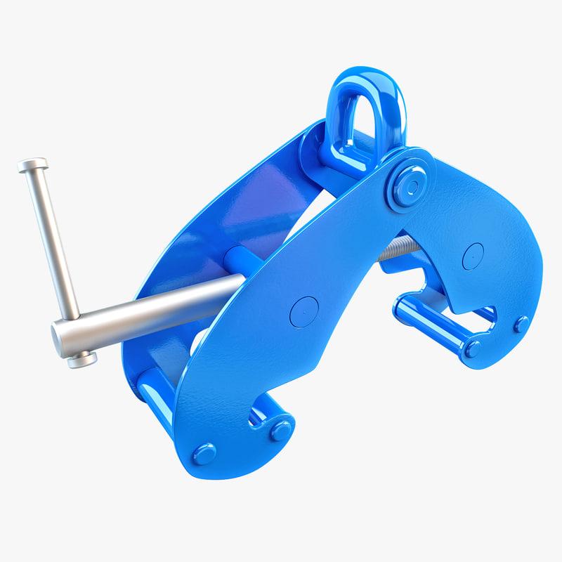 3d model beam clamp
