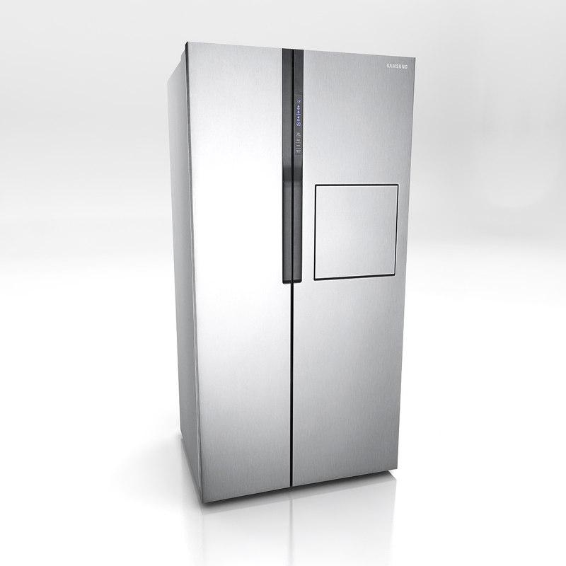 3d door refrigerator fridge model