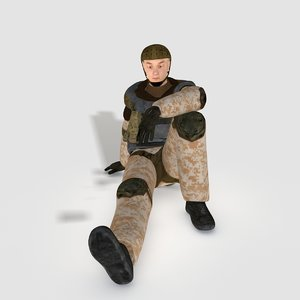 realistical soldier polys 3d max