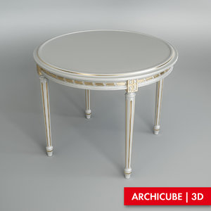 3dsmax white table dining