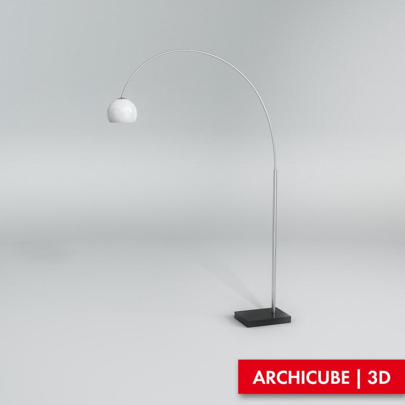 3ds max floor lamp