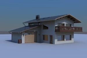 house alpine hq 3d model