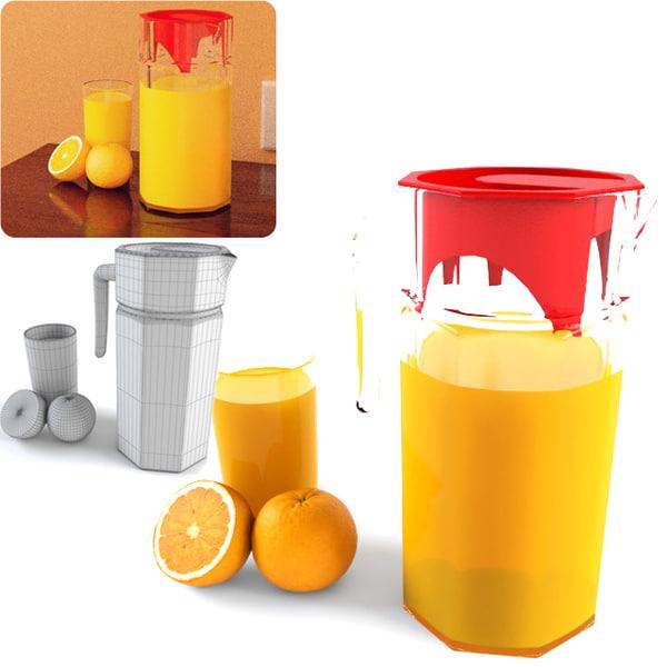 3d model decanter juice
