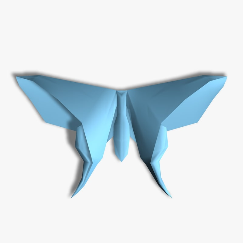 Origami Butterfly 3d Model