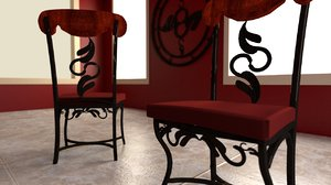 3dsmax dining room chair decorative