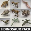 9 dinosaur rigged pack max