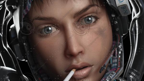 human eye 3d max