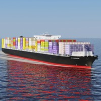 exedra container ship 3d model