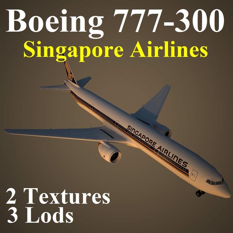 boeing 777-300 sia max