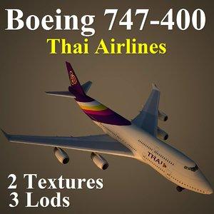 3d boeing 747-400 tha