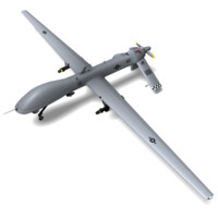 3d mq-1a predator ready games model